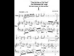 """Embedded thumbnail for Suite """"5 dân ca Việt Nam cho violon và piano"""" - Đặng Hữu Phúc"""